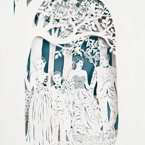 Anniversary Family Wedding - Layered Papercut - Total - Square - Whispering Paper