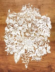 Modulair lasercut - Tropical Flowers - Total - Whispering Paper