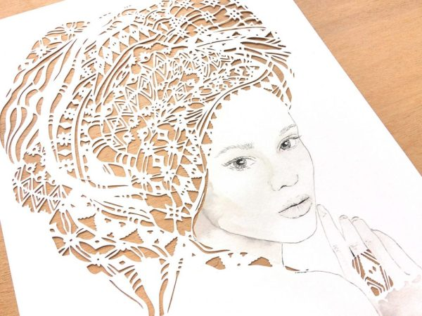 Girl with headwrap - Detail Left