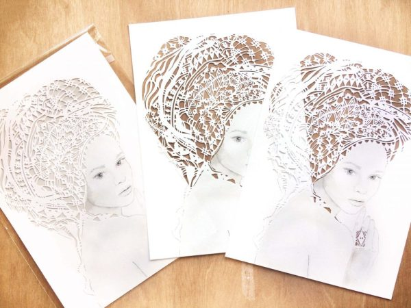 Girl with headwrap - Multiple