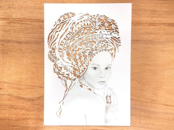Girl with headwrap - Total