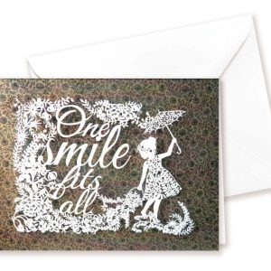 Double card - One smile - brown