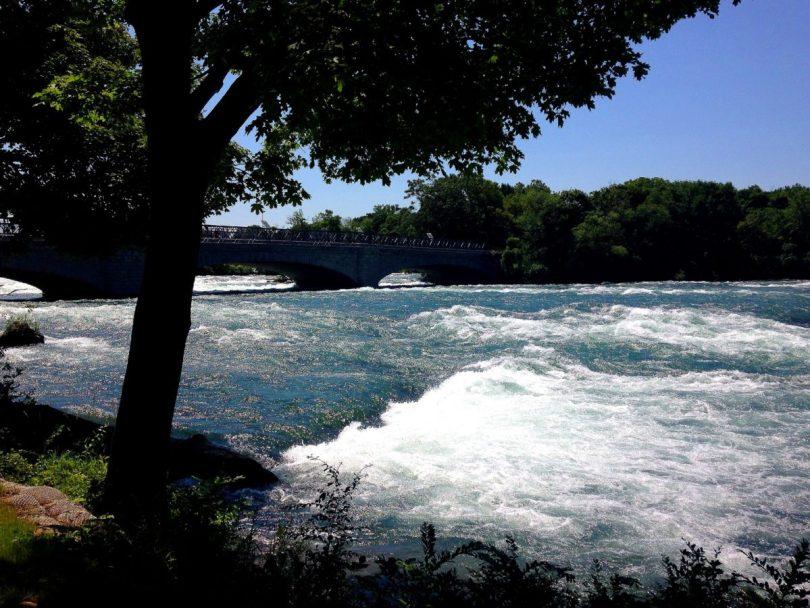Pedestrian Bridge Goat Island Niagara Falls