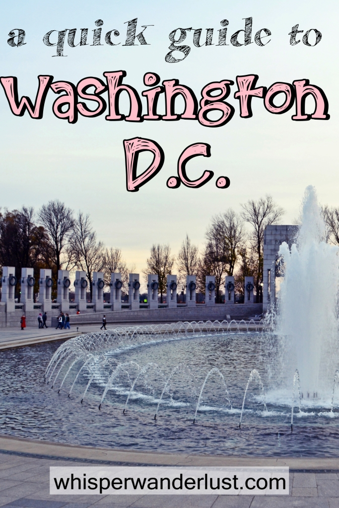 A quick guide to Washington D.C.