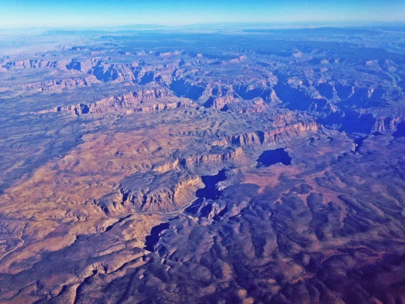 Grand Canyon view from the plane