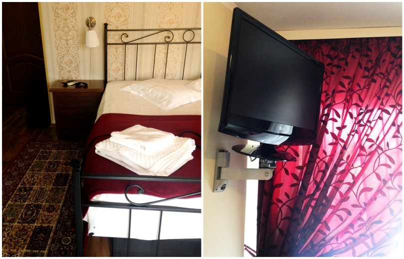TV and bed SS Residence Hotel Bucharest