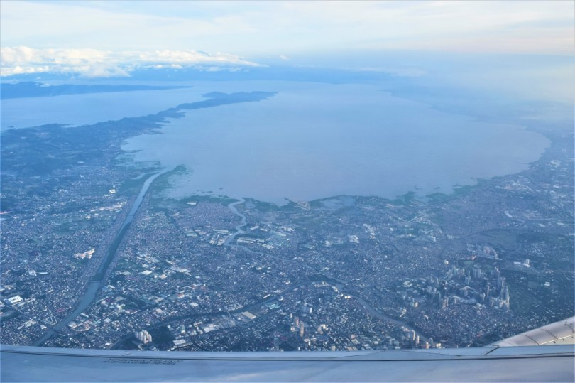 Manila, as seen from the plane