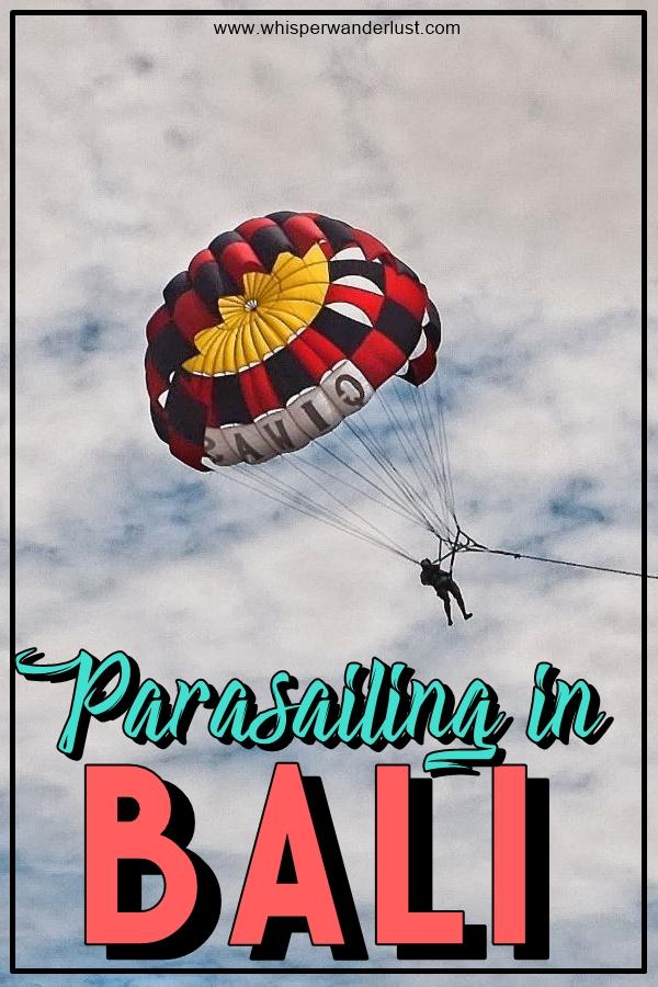 parasailing Bali