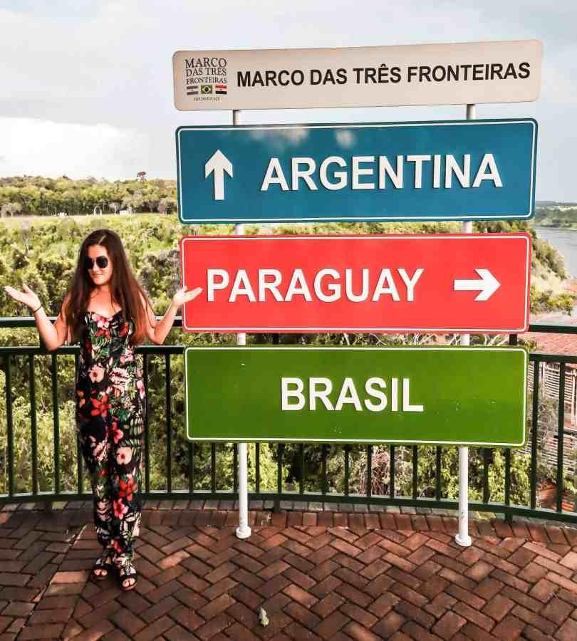 Marco das tres fronteras Iguazu Falls