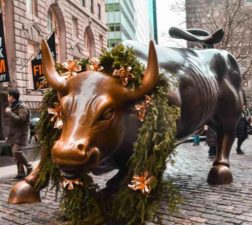 charging bull wall street new york city