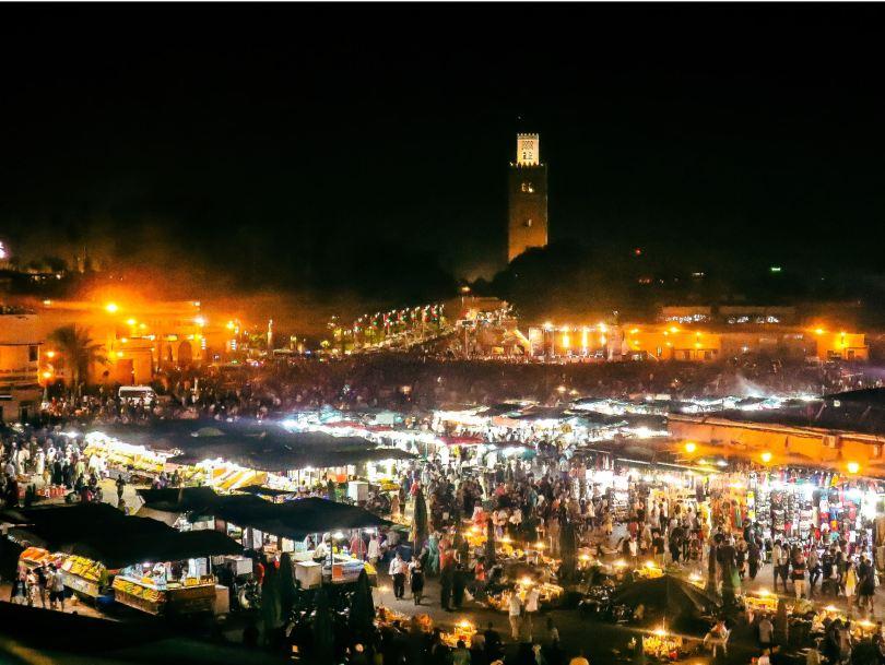 jemaa el fna medina marrakech morocco