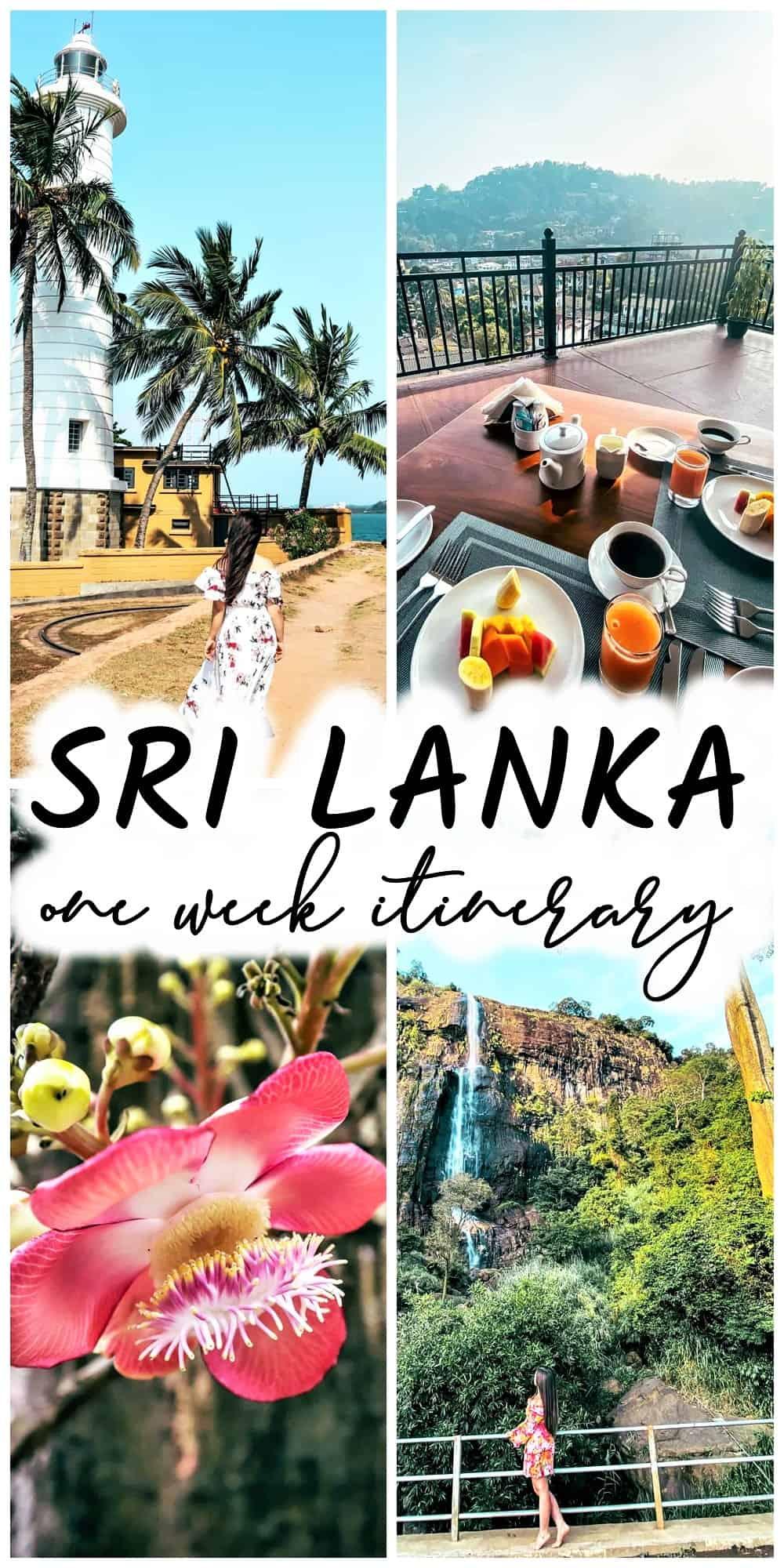 one week Sri Lanka itinerary