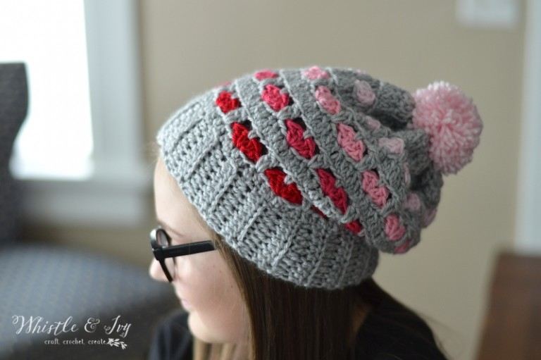 Whistle & Ivy: Puppy Love Heart Slouchy [Monthly Coffee at High-Heeled Love]