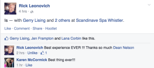 Best Experience Ever - Scandinave Spa Whistler