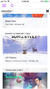 Buy Tickets from the Whistler Pride Festival App