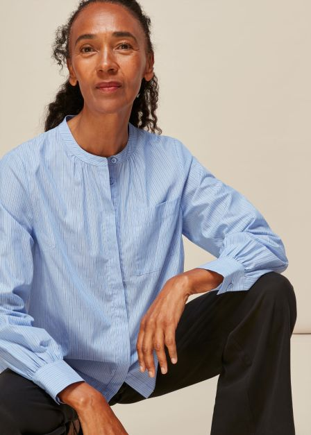 Stripe Cotton Pocket Shirt whistles