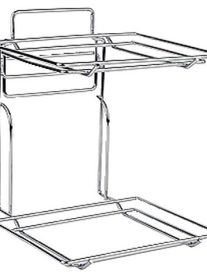 Tiered stand for displaying baskets.