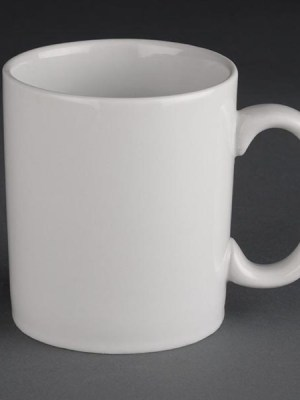 Great value porcelain mugs from Athena Hotelware which is tough