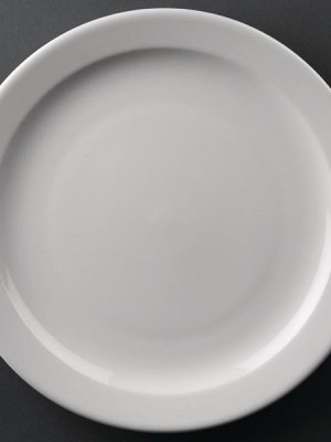 Great value porcelain narrow rimmed plates from Athena Hotelware which is tough