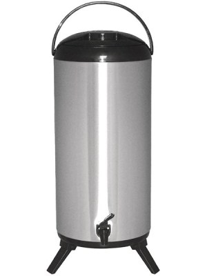 Stainless steel double walled beverage dispenser.