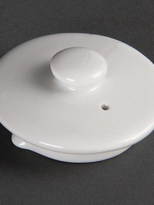 Great value pure white porcelain hotelware. Stackable with strengthened rolled edges for chip resistance. Fully vitrified to ensure glaze durability. Oven