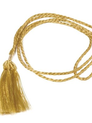 Gold cord to decorate menu holders.