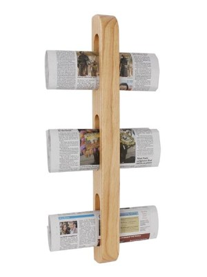 Magazine or newspaper rack allows for organised display of reading materials in hotels