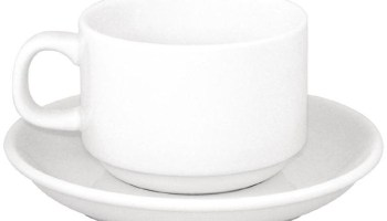 Bulk Buy Pack of 24 Olympia Cappuccino Cup And Saucers Combo - Whitco