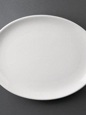 Great value porcelain oval coupe plates from Athena Hotelware which is tough