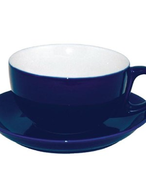 Add a touch of individuality to your table with this contemporary range of coloured porcelain crockery by Olympia. The range is ideal for simple yet vivid food and hot drinks presentation. This cappuccino cup in a deep blue finish has soft-rolled