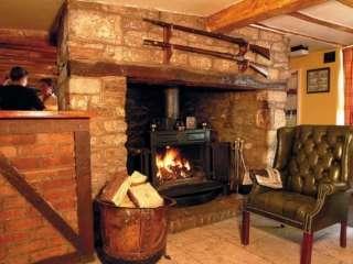 White Hart Hotel Bar Fireplace