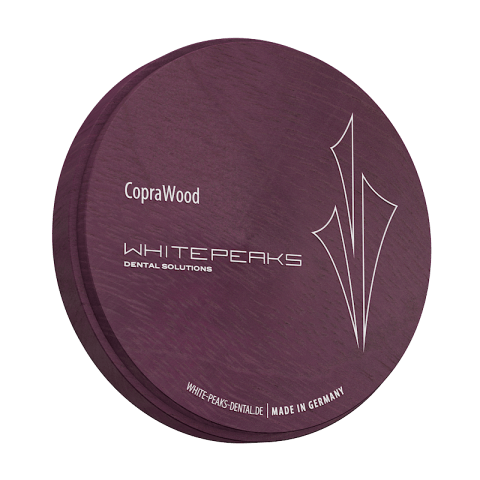 CopraWood Amaranth 98 Ø x 25 mm WHITE