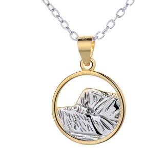Pendentif Dent de Vaulion en argent 925 by White Alpina. Ce magnifique bijou pour femme est livré dans un écrin avec une chaîne.