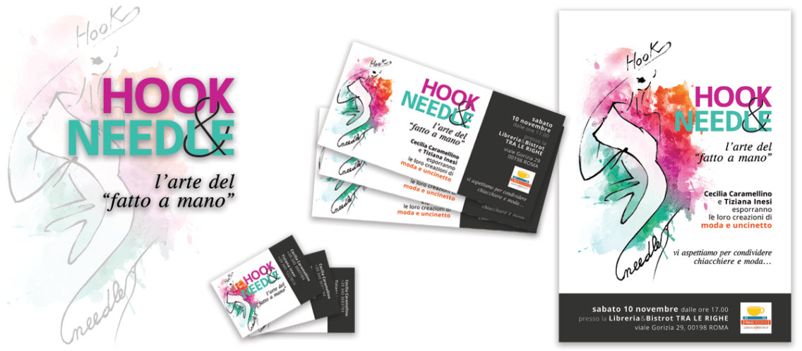 HOOK&NEEDLE - manufatti di cucito e uncinetto (2018 logo & event corporate id.)