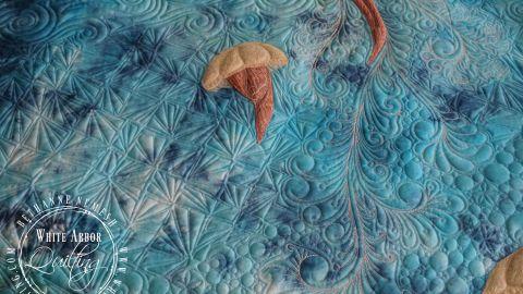 Jellyfish Quilt, Client Commission 2019