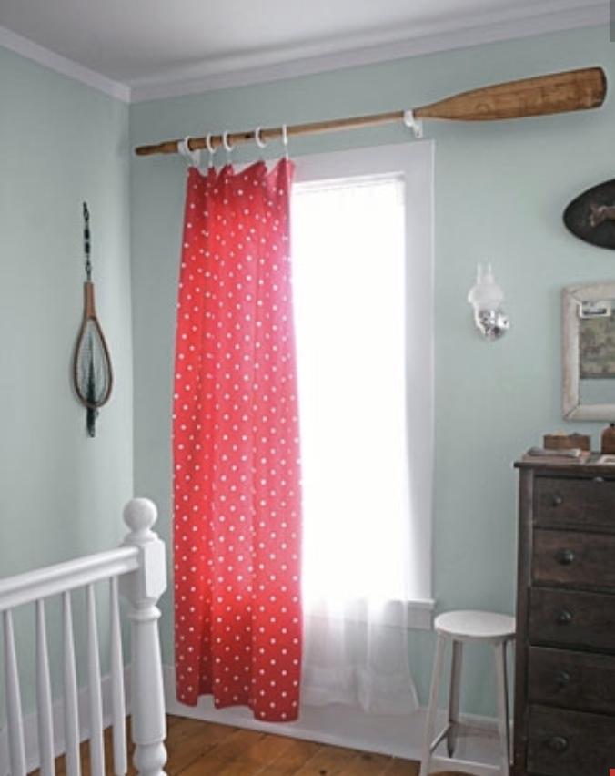 addle, oar, curtain rod, nautical, oar curtain rod