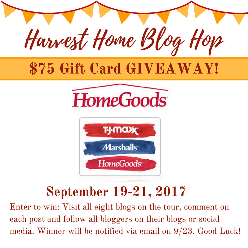 Home Goods, Marshalls, TJMaxx, Giveaway, Home Decor, Blog Hop, Harvest Home, Autumn Decor, Fall Decor, Blog Tour, Bloggers