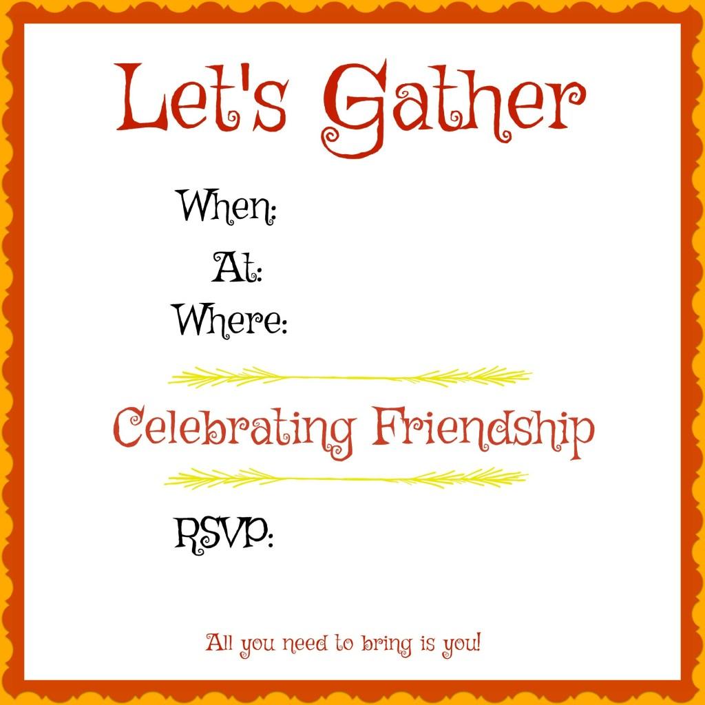 Friendsgiving Invitation, Invitation, Friends Party