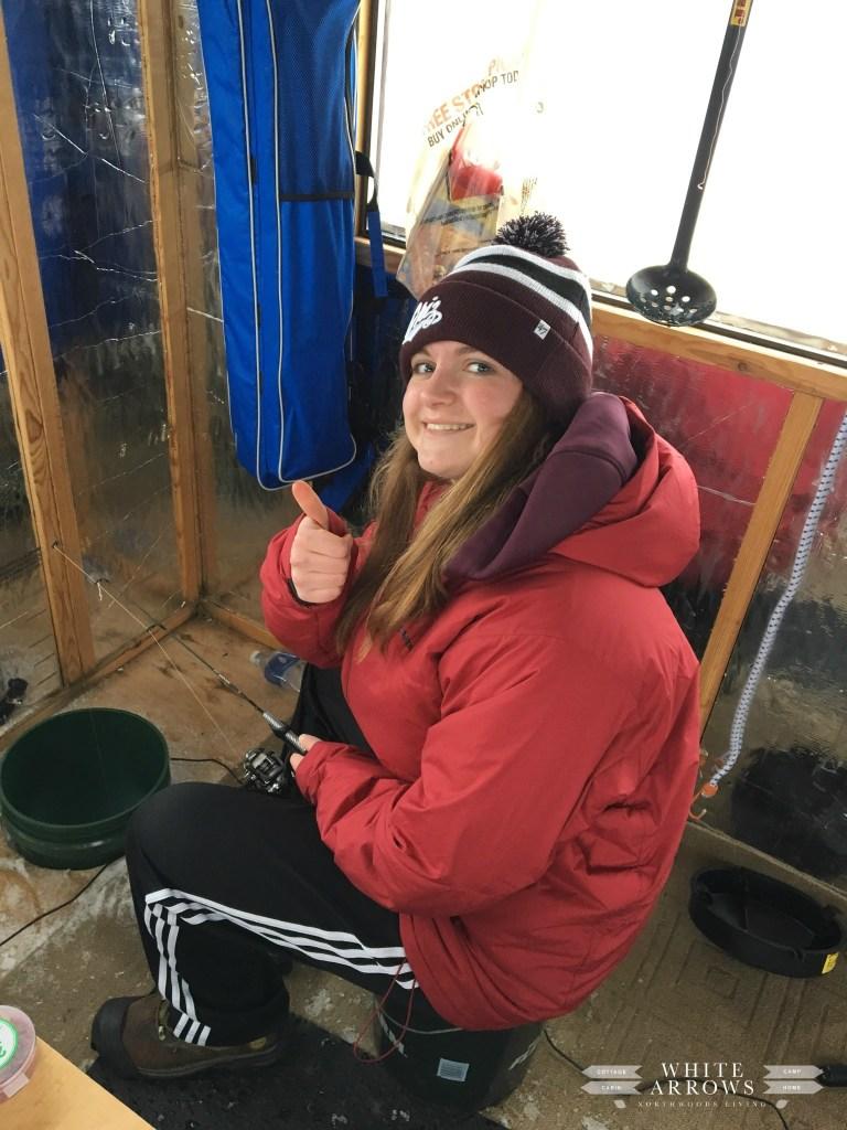 Snow Day, Ice Fishing, Northwoods
