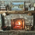 Rustic Fireplace Mantel Decor White Arrows Home