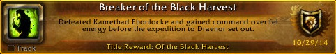 Achievement Unlocked! Wielder of the Fel Fires.