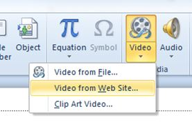 Insert YouTube video into powerpoint