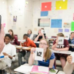 Plickers : Whole Class Assessment With a Single Device