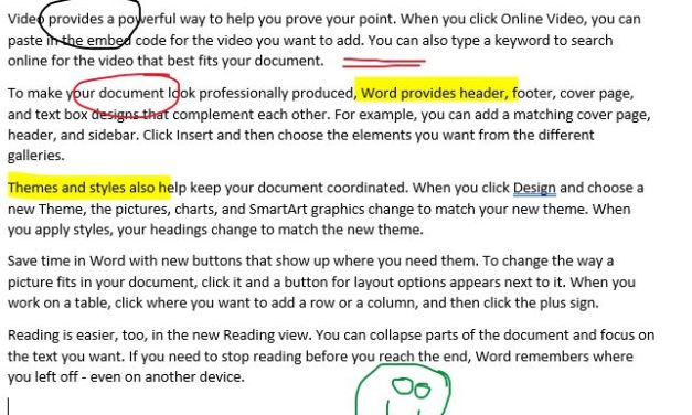 Annotate in Word and more with Office 365 Drawing and Inking Tools
