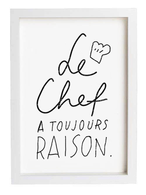 Le Chef_Art_Etsy_Anek