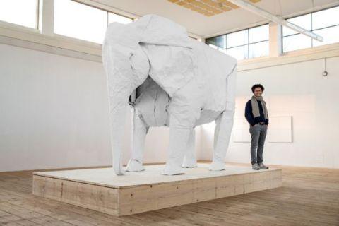 Sipho-Mabona-origami-elephant