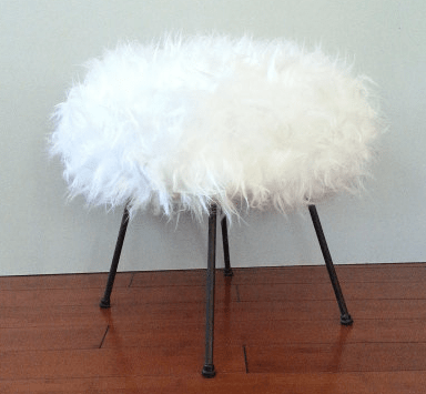 faux-fur-stool