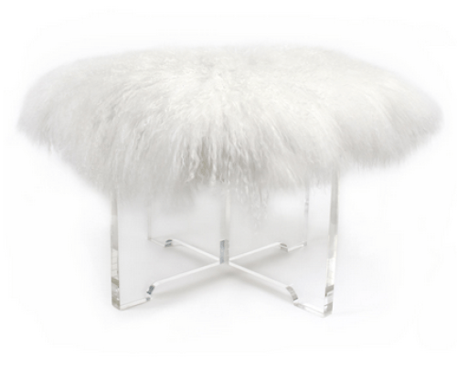 Mongolian-fur-bench-white