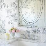 Design: Black and White Floral Wallpaper