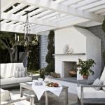 Design: The Prettiest Outdoor Fireplaces